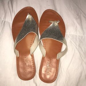 Gold sandals by mad love